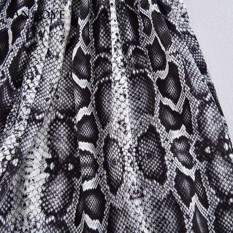 Snake Print High Waist Shorts Women Autumn Paper Bag Sexy Elegant Fashion Lace Up Ruffle Mini Ladies Shorts Skirts 44