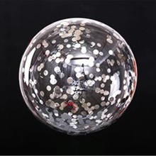 Bobo ball 5pcs/lot18 inch round silver confetti foil balloons birthday party decorations adult helium baloons wedding supplies