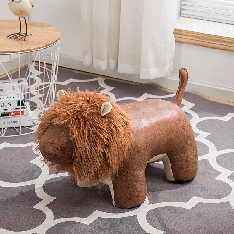 Creative Lion banc à chaussures mode porte décorative manuel chaussure tabouret dessin animé animal test chaussures pied tabouret