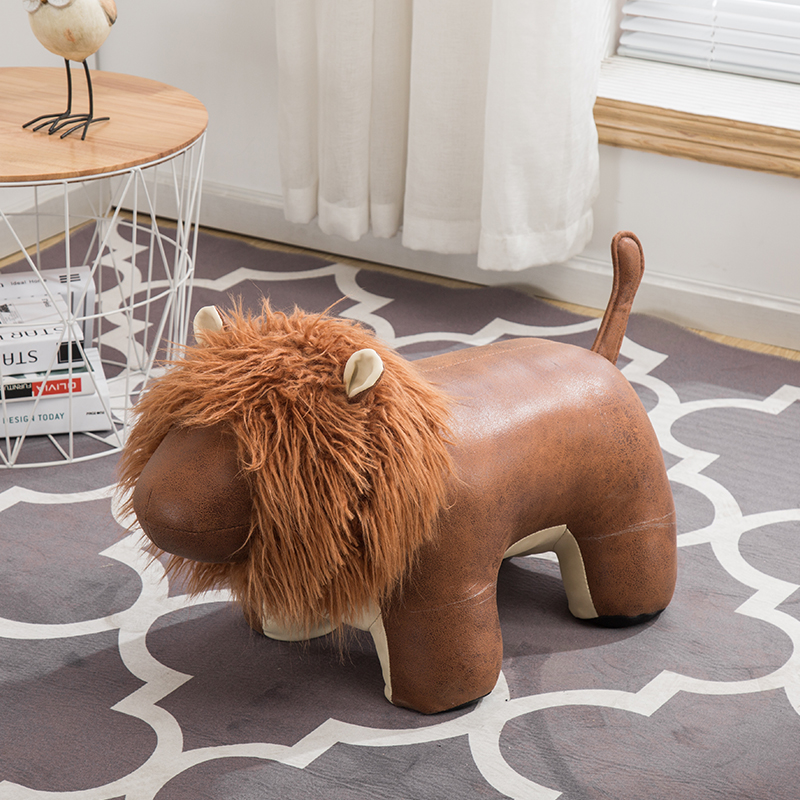 Creative Lion shoe bench fashion decorative door manual shoe stool cartoon animal test shoes foot stool