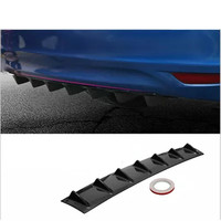 Car Bumper Deflector Modified Spoiler Shark Fin 7 Wings For Hyundai Solaris I30 creta Suzuki Swift SX4 Lada Vesta Granta Kalina