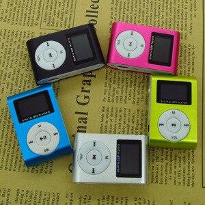 Image 2 - スポーツ MP3 プレーヤー液晶画面/金属ミニクリップ金属多色ポータブル MP3 音楽プレーヤーマイクロ tf/sd カードスロット