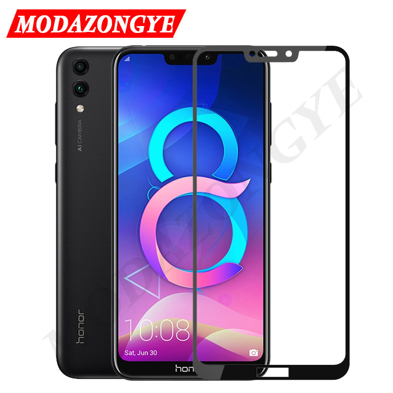 Honor 8C Glass Screen Protector Full Cover Honor 8C BKK-L21 Tempered Glass For Huawei Honor 8C BKK-L21 8 C Honor8C Glass 6.26