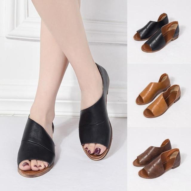 902e11002c6d6e Sandales femmes d'été 2018 chaussures à semelles compensées sandales femmes  Femmes Couleur Bout Pointu