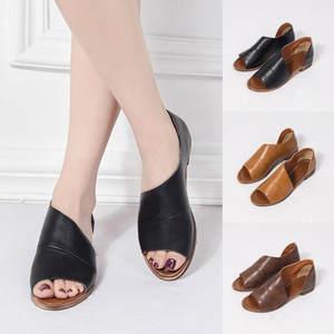 431927b0321 YOUYEDIAN summer 2018 platform Women Low Heel Shoes Sandals