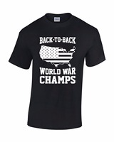 New Arrivals Summer Style Simple Back To Back World War Champs Men's O Neck cotton T-shirt
