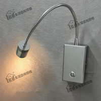Topoch Dimmable Bedside Lamp for Luxury Hotel RV Boats Flexible Arm Chrome Finish 15% 100% Brightness Dimming 3W CREE LED 2 Year