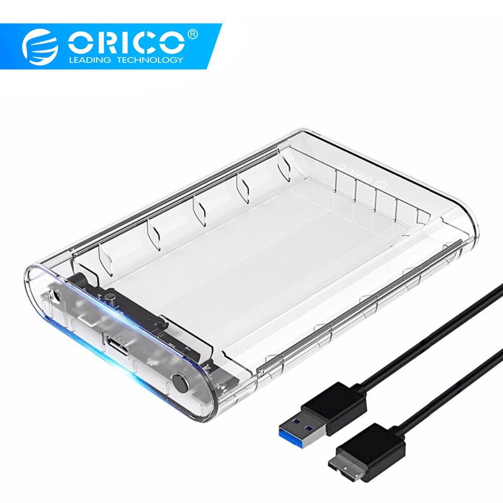 ORICO 3139U3 3.5 Polegada Transparente Caso Gabinete HDD USB 3.0 5gbps 5 SATA3.0 Apoio UASP 8TB Drives Para Notebook PC Desktop