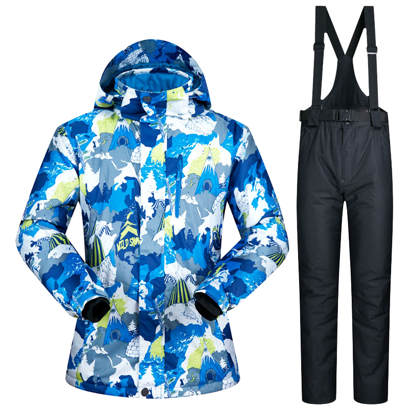 Ski Suit Men New Windproof Waterproof Thicken Male Clothes Snow Ski Jacket and Pants Snow Winter