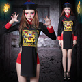 Halloween Costume Masquerade Horror clothes scar reduction Cosplay zombie clothing show dance clothing in Qing Dynasty