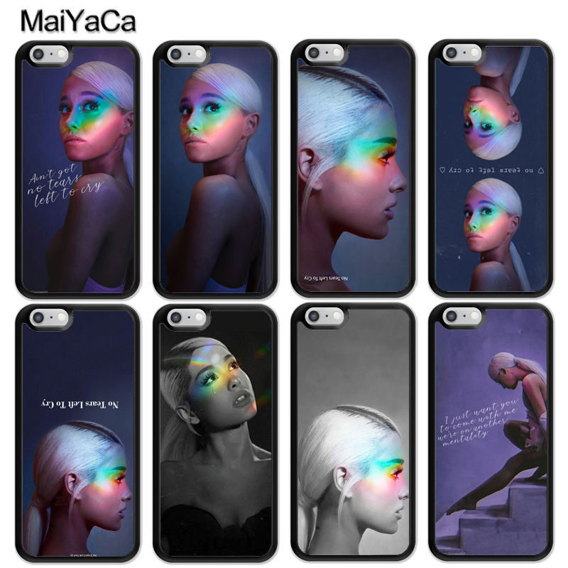MaiYaCa sexy beauty singer Ariana Grande Fashion Soft Rubber Skin Phone Cases For iPhone 6 6S Plus 7 8 Plus X 5 5S SE Back Cover ...