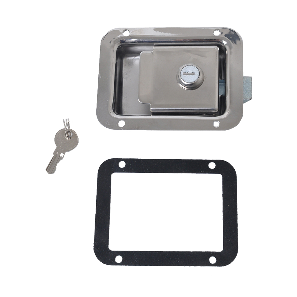 Fast Deliver Stainless Steel Tool Box Caravans Entry Dead Bolt Lock Latch&key&gasket For Marine Yacht Rv Vehicles Trailers Caravans Cheap Sales 50%
