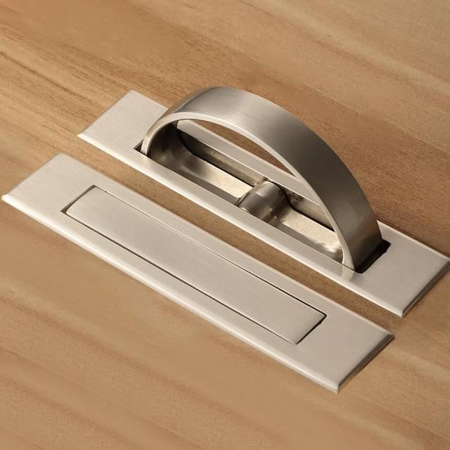 New Zinc Alloy Rotating Hidden Handle Tatami Handles Platform Invisible For Kitchen Cabinet Drawer