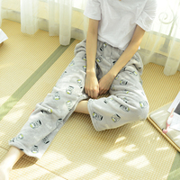 GO FURTHER 2017 Coral Cashmere Pajamas Women Winter Pants Flannel Loose Home Pants Women Plus Velvet