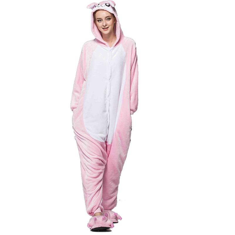3388f73c3 Onesies para adultos pijamas de invierno pijama mujer hombres pijamas de  conejo ropa de dormir mono de Navidad trajes de pareja en de en  AliExpress.com ...