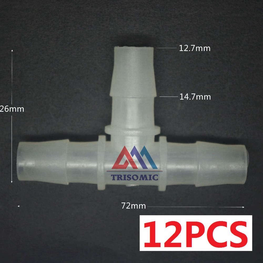 Clever 12 Stücke 12,7mm T Tpye Equant Stecker Gleich Rohr Joiner Material Pp Kunststoff Montage Aquarium Airline Aquarium Rohrverbindungsstücke Heimwerker