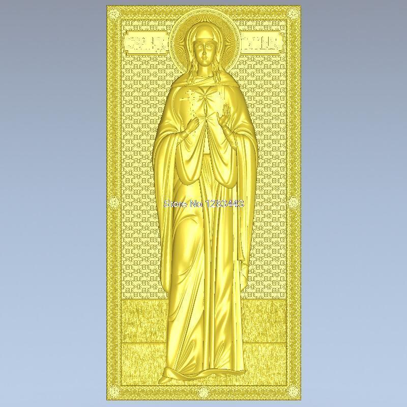 High Quality New 3D Model For Cnc 3D Carved Figure Sculpture Machine In STL File Ikona_0139_SV_Tatiana