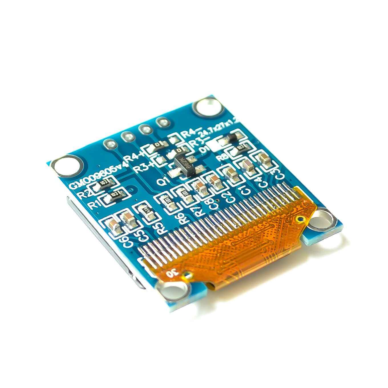 White Blue color 128X64 OLED LCD LED Display Module For Arduino 0.91 0.96 1.3 I2C IIC Serial new original with Case