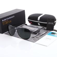 BARCUR Eyewear Accessories Men Sunglasses Male Hot Rays Aviation Male Sun Glasses Polarized Sunglasses for Men Glasses