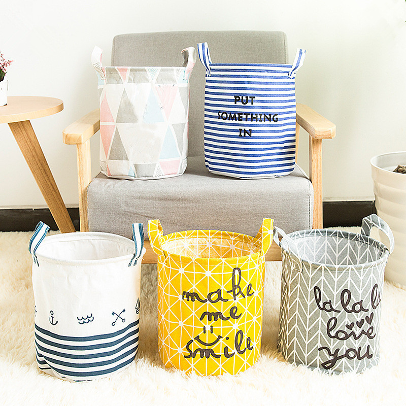 Folding Laundry Basket Storage Barrel Standing Toys Clothing Storage Bucket Laundry Organizer Holder Pouch Household