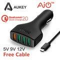 Aukey de carga rápida 2.0 54 w 4 portas usb car charger adapter para samsung galaxy s6, s6 edg, borda +, note5, e muito mais (1xqc2. 0 + 3x2. 4a)