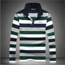 Men Polo Shirt 2016Spring And Autumn New Brand Long Sleeve Striped Polo Men Casual Men'S Big Yard Polo Shirt High Quality A2586