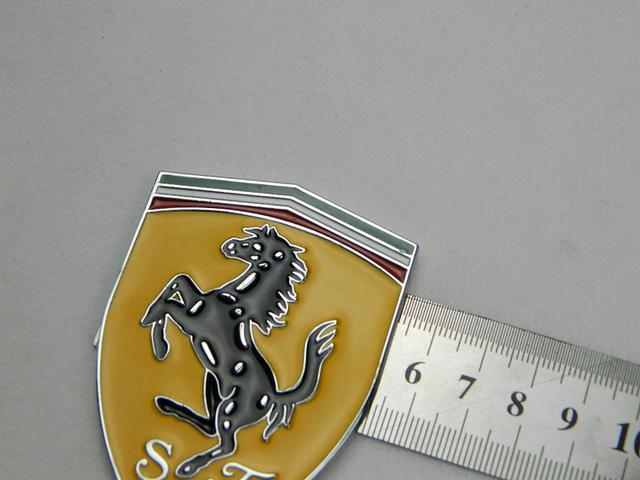 Metal Logo Sticker Badge For Ferrari