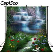 Capisco Vinyl Photography Backdrops Waterfall Natural Scenery Children Baby Backdrop Background Newborn Photographic Background