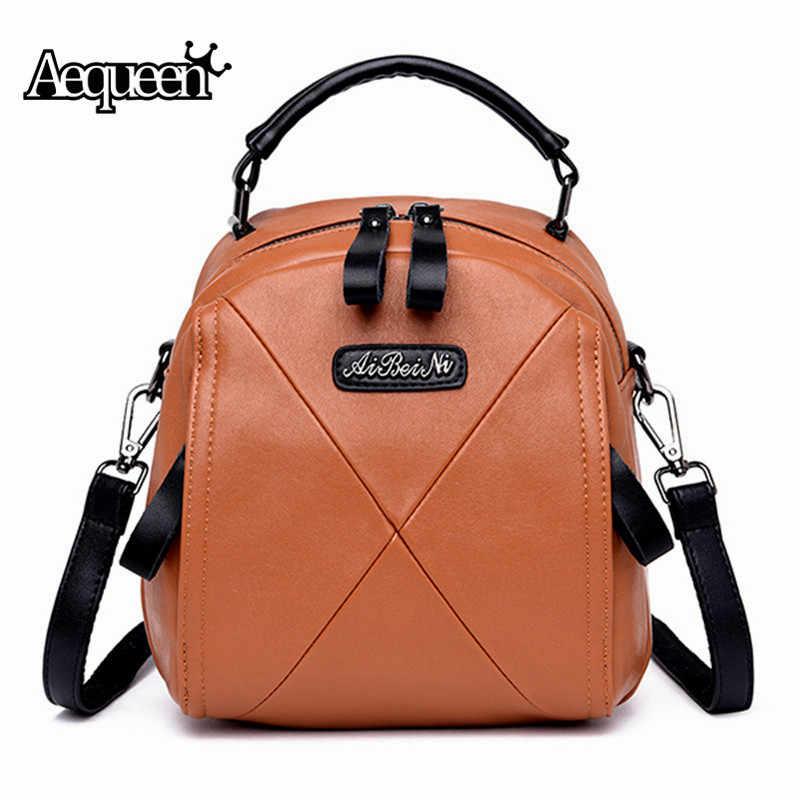 0fb3d46a0a Genuine Leather Designer Back Pack Women Backpack Black School Bag For Girl  Small Crossbody Bags Female