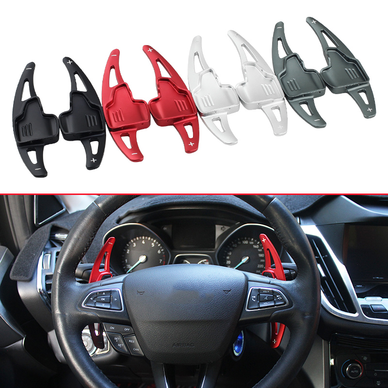 Steering Wheel Shift For Ford Focus Escape Kuga 2017 2018 2019 Aluminum Gear Lever Gearshift Paddle
