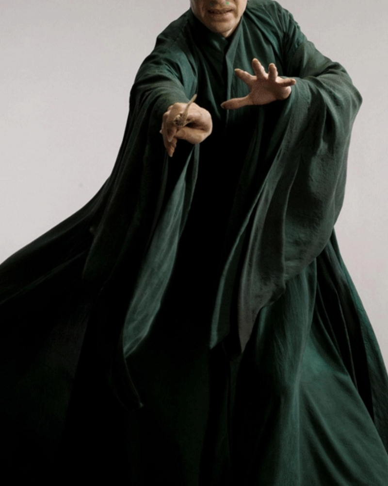 Free Shipping Lord Voldemort Cosplay Costume and Glowing Magic Wand from Harry Custom Made for Halloween and Christmas