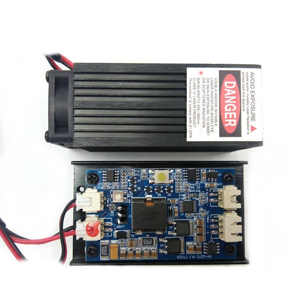 7500 mw/15000 mw Module Laser bleu-Violet à mise au point fixe peut graver du métal pour graver un accessoire de graveur de Machine à graver