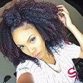 4B 4C Afro Kinky Curly Grampo Em Extensões Do Cabelo Humano 7A mongol Clipe Em Extensões de cabelo Humano Para As Mulheres Negras perucas Africano Americano Ins