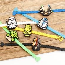 1 Piece Creative Cartoon Cute Star Wars Darth Vader Yoda C-3PO Cosplay Party Favor Supplies Souvenir Kids Hand Decor Wristband