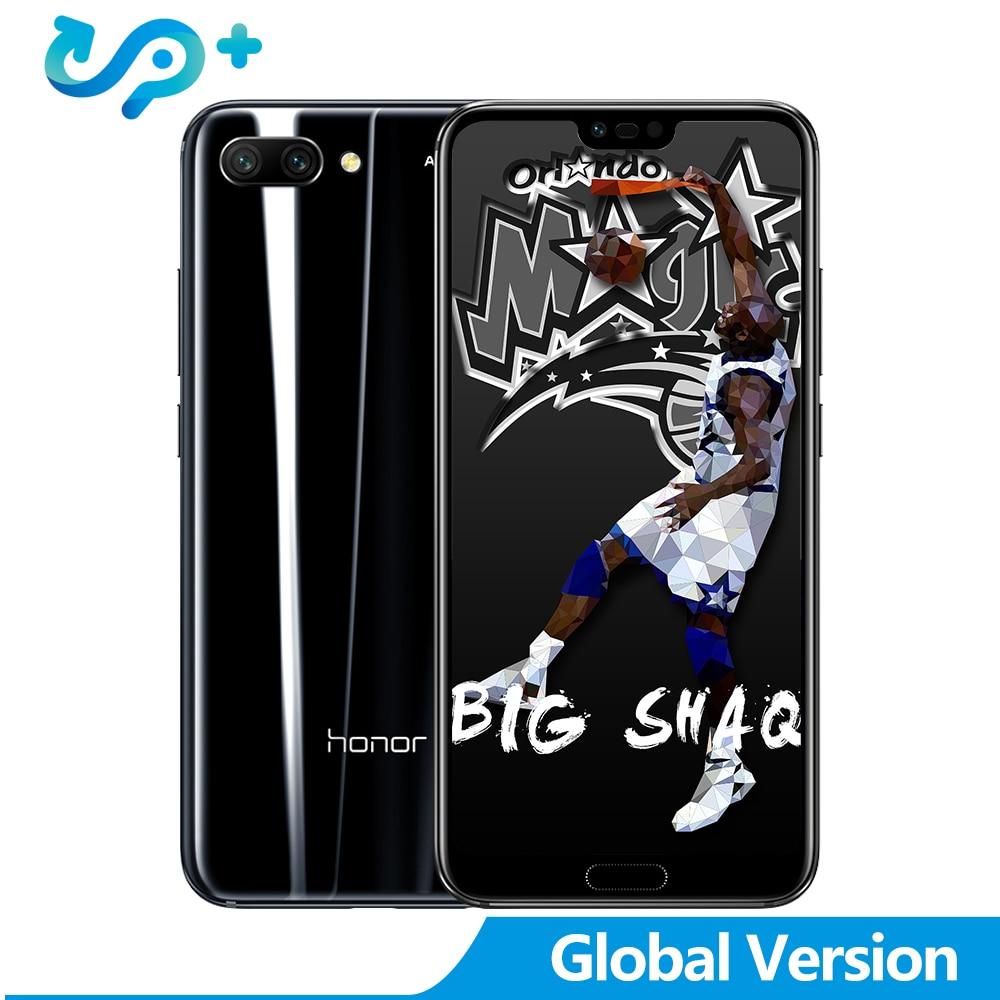 Version mondiale Huawei Honor 10 Android 8.0 4G LTE Smartphone 3D verre incurvé Kirin 970 AI processeur 5.8 pouces 24MP caméra 1080 P