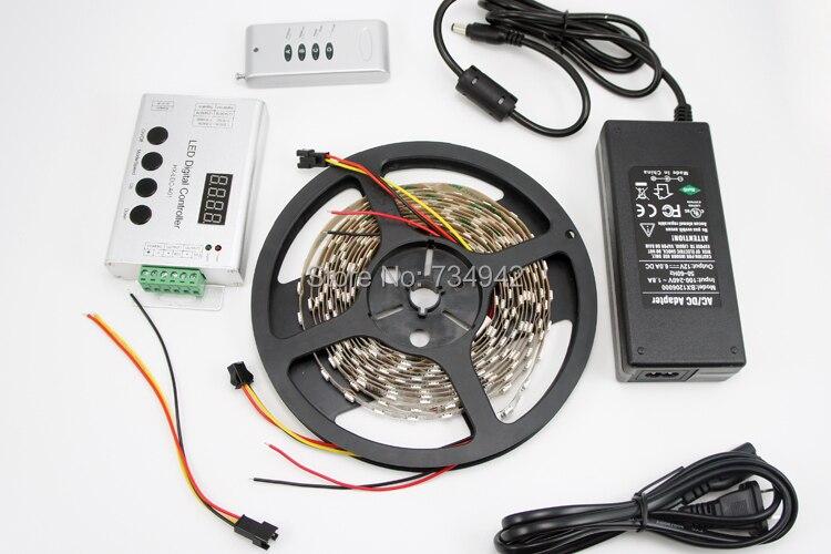 Kit de LED de rêve numérique 12VDC 60 bande LED couleur/M RGB SMD5050 UCS1903 IC adressable 300 LED par rouleau de 5 M