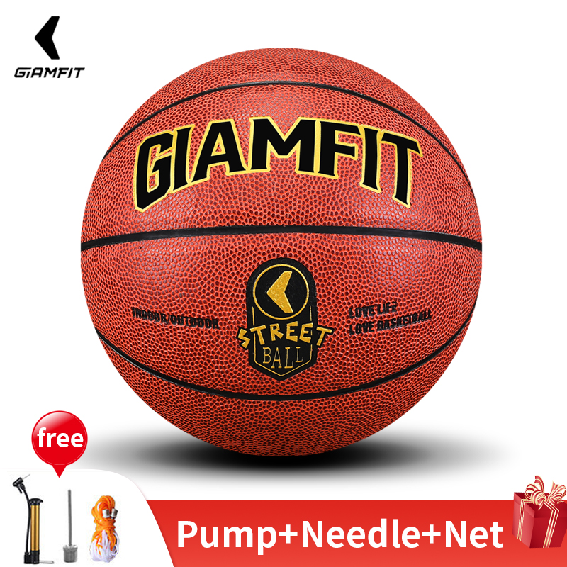 Brand New Basketball Ball Size 5/7 PU Leather Inflatable Basketball Free Gift Outdoor Indoor Match Training Equipment Basquete