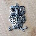 Ofertas, Prata antigo acabado liga oco charme coruja para colar e pulseira fazer jóias