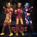 Iron Man 3 de Una sola pieza leotardo + mascarilla + calcetines ropa de los muchachos de Halloween Avengers niños ropa roupas infantis menino ropa ninos