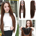 1PC 10Colors Long Hair Wigs Straight Free Gift Cap U Part Wig Sexy Natural Synthetic Japanese Heat Resistant Fiber Full Wigs