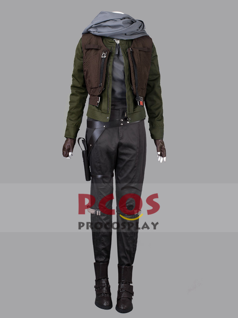 Rogue One: A Star Wars Jyn Erso Coaplay Costume & Shoes mp003574 army green Jacket Version