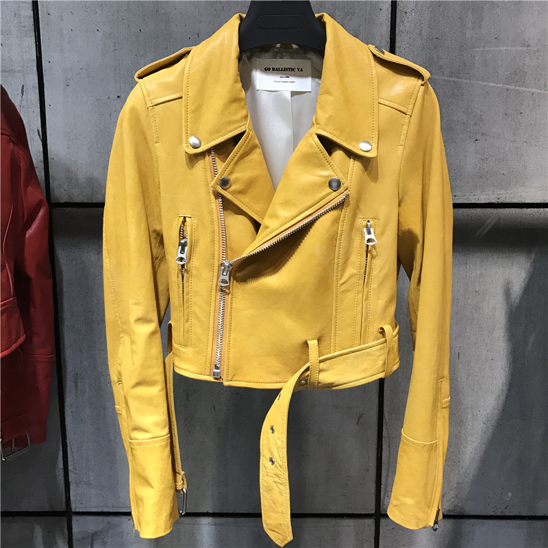 women quality genuine leather jacket fashion lady leather blazer plus size 5XL