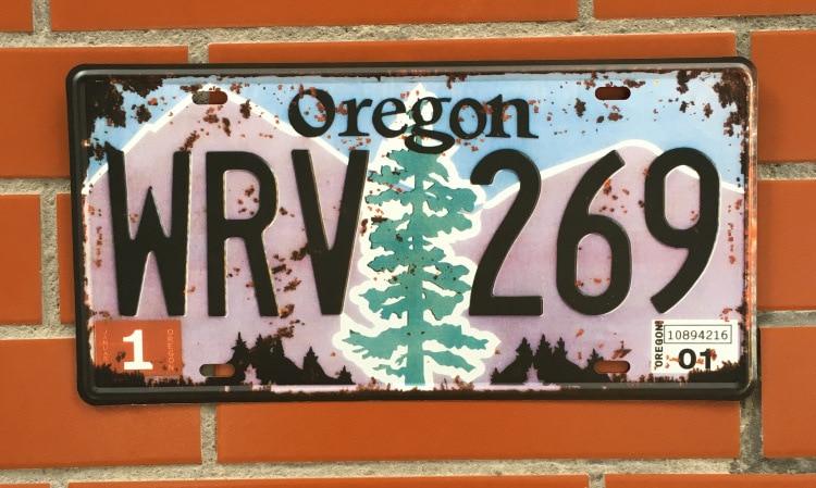 Retro Vintage Metal Plate