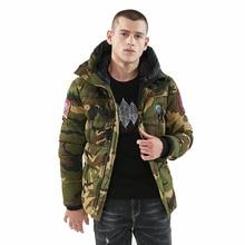 1237c13f58b1 Winter Jacke Männer Parka Mantel Dicke Warme Parka Männer Camouflage  Military Jacke Mit Kapuze Kragen Jaqueta