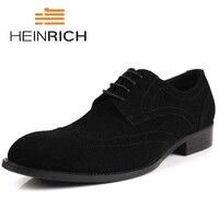 Генрих модельные туфли с круглым носком осенние сапоги из натуральной кожи черные туфли на официальное событие Дерби обувь мужской социаль