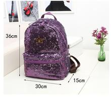 1 piece metal crown logo Mochilas Mujer Outdoor Crown Sequins Colorful Backpacks Travel Bag School Package Bags mochila