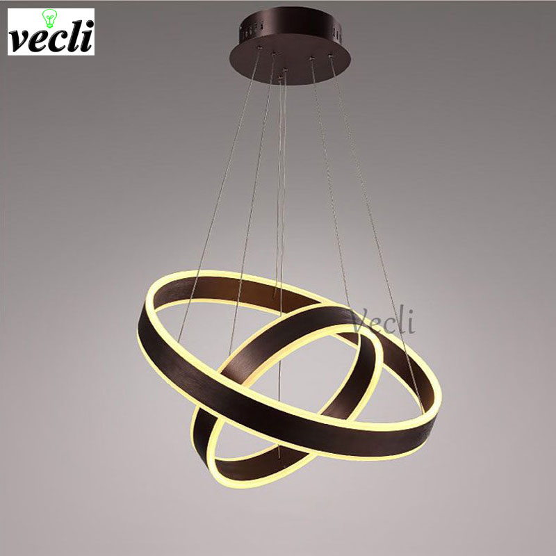 Modern chandelier circular dining room lamp simple living room lamp LED office lamp creative personality entrance lamp