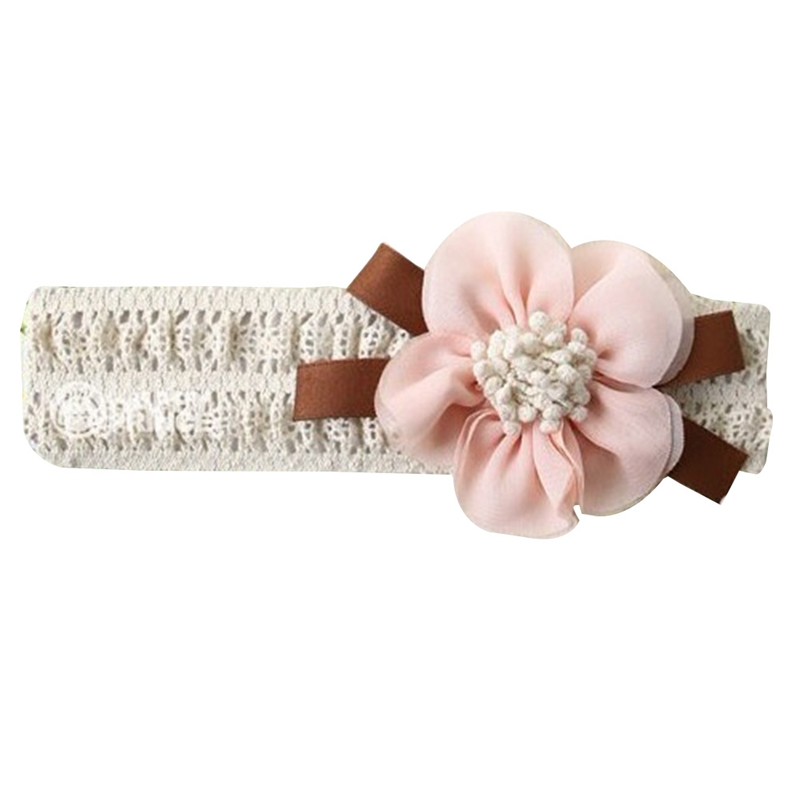 New Lace Flowers Headband Fashion Children Kids Baby Girls Headwear Hair Band Head Accessories(China)