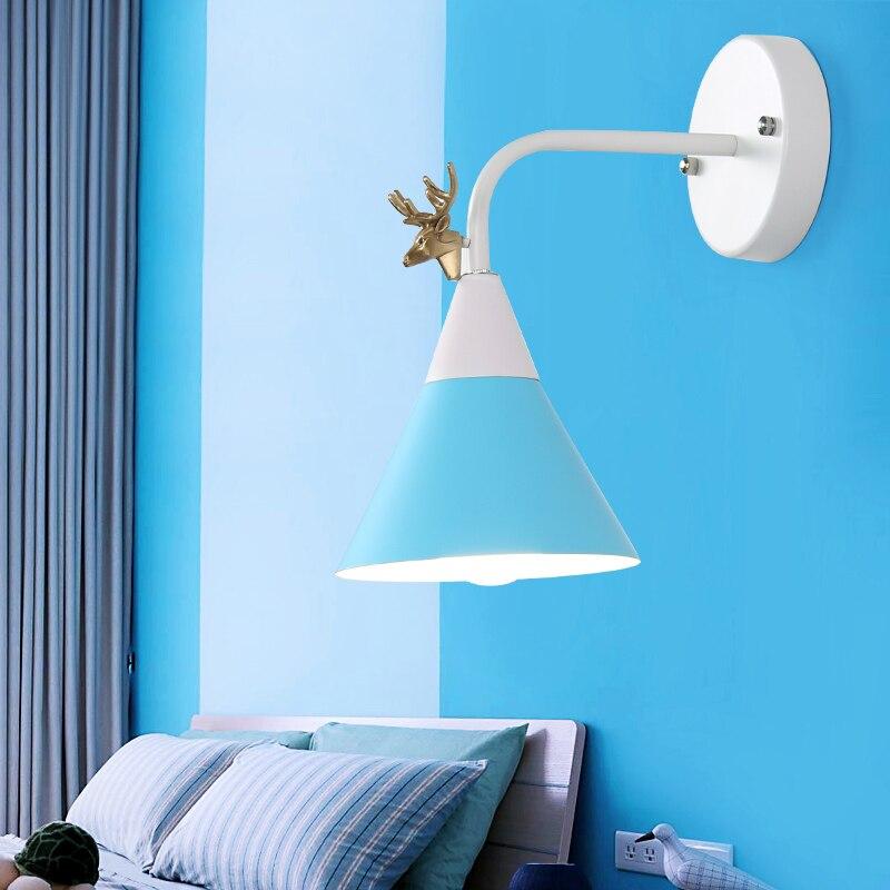 Мода стены Nordic ночники Спальня современный Гостиная дорожки лестницы простой железный ремень светодиодные лампы
