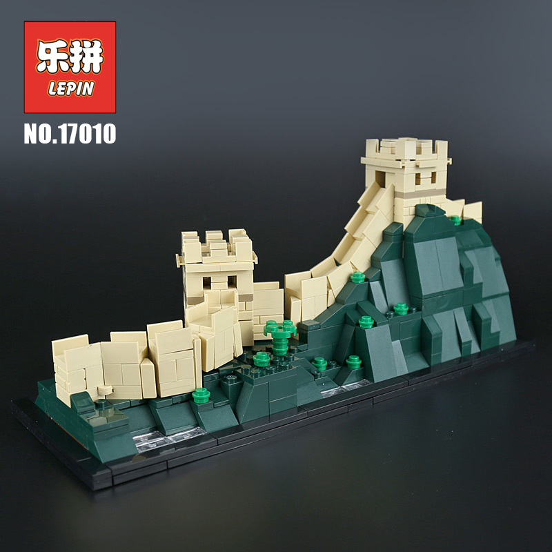 Lepin 17010 Chinese Famous Building the Great Wall of China compatible 21041 Lepin Architecture Building Blocks Bricks Toys great wall style building home with jim spear